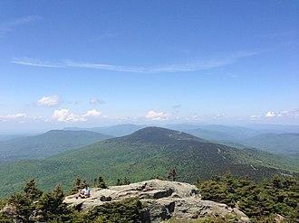 Killington Peak - Image: View from Killington Peak looking at Pico Peak