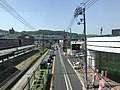 View from footbridge in front of Yano Station (west).jpg