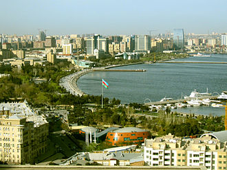 Baku Boulevard - Image: View of Baku