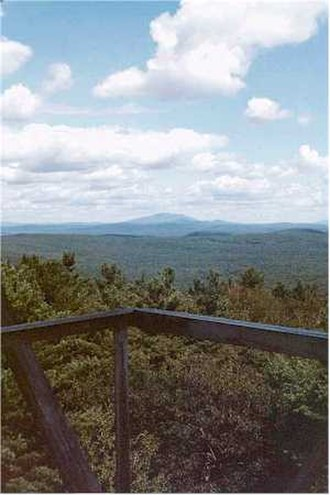 Warwick, Massachusetts - View from Mount Grace fire tower; Mount Monadnock visible in the distance