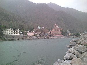 Rishikesh - View of Rishikesh from beach