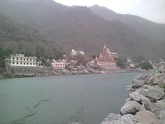The Beatles in India - Image: View of rishikesh from beach