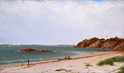 View of the Beach at Beverly Massachusetts John Frederick Kensett