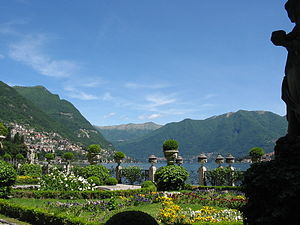 Villa Fontanelle - View over Lake Como, looking North East