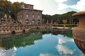 Villa Lante - Basin and one of the casini