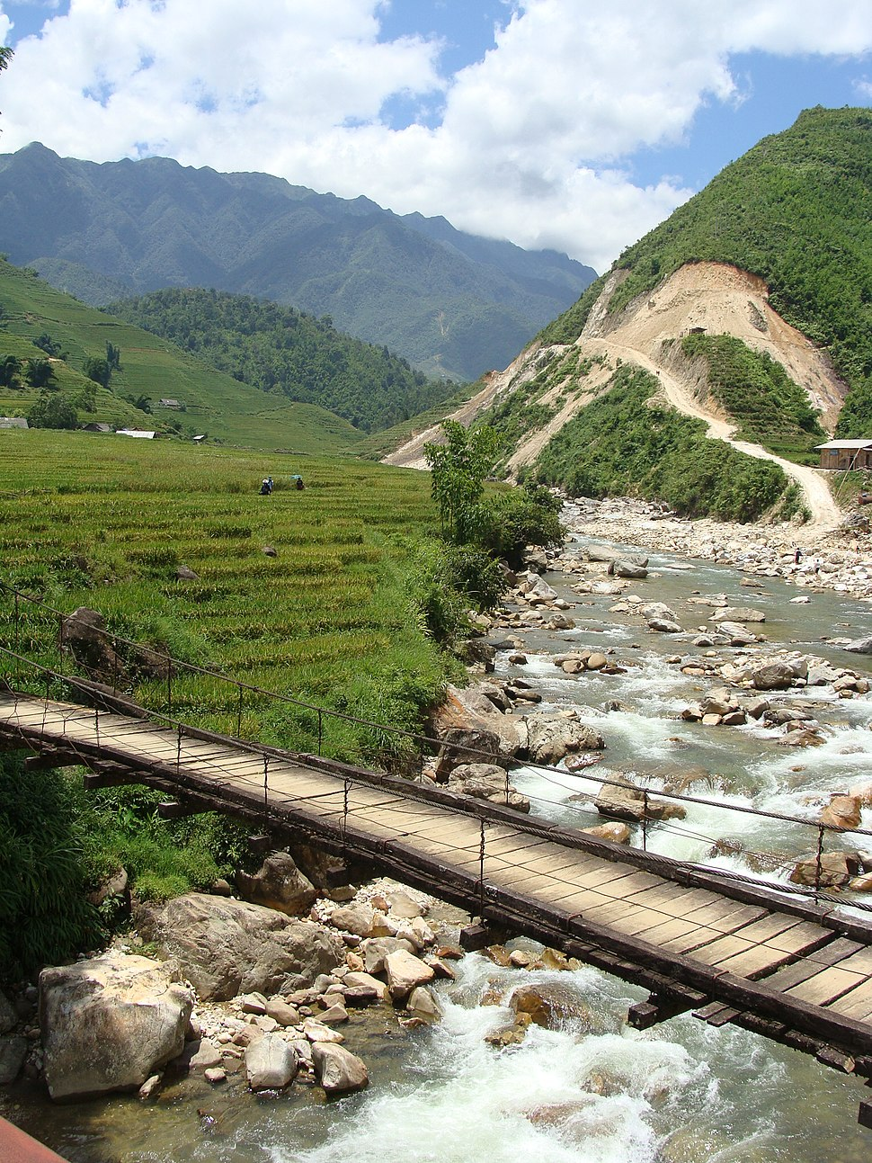 Village vietnam sapa bridge