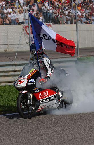 Arnaud Vincent - Arnaud Vincent, celebrating his 125cc world championship title in 2002