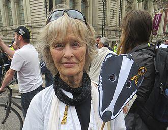 Virginia McKenna - Virginia McKenna at an anti badger cull demonstration, Westminster, London, June 2013