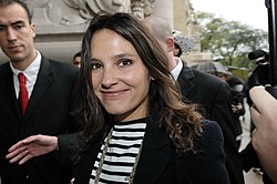 Virginie Ledoyen, People au Défilé Channel, Printemps-Eté 2010.jpg