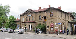 railway station in Wejherowo, Poland