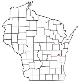 Brothertown, Wisconsin - Image: WI Map doton Brothertown