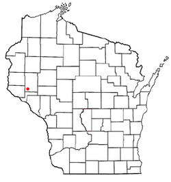 Location of Eau Galle, Wisconsin