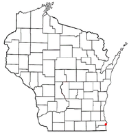 Location of Elmwood Park, Wisconsin