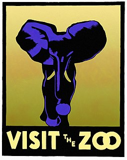 WPA 1937 poster promoting visits to American zoos WPA Zoo Poster (Elephant).jpg