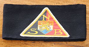National Socialist Movement in the Netherlands - WWII Dutch NSB (Nationaal-Socialistische Beweging ) armband