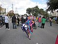 WWOZ 30th Parade Elysian Fields Lineup Jennifer Jones Poses.JPG