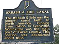 Wabash and Erie Canal historical marker in Montezuma.jpg