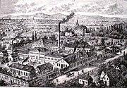 Wagenfabrik Dick u Kirschten Offenbach am Main um 1850