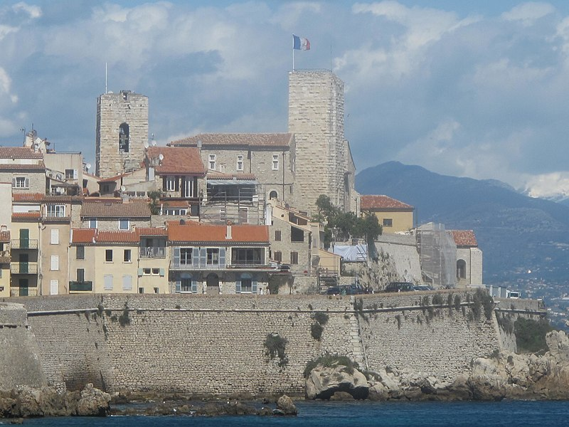The walls and the castle of the Grimaldi family in Antibes, Alpes-Maritimes, France