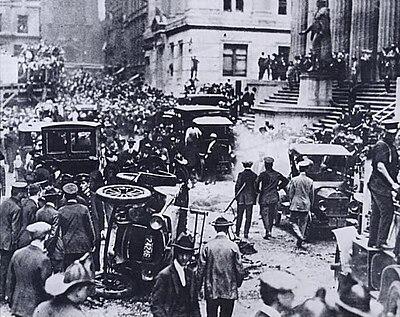 Wall Street después de la explosión.