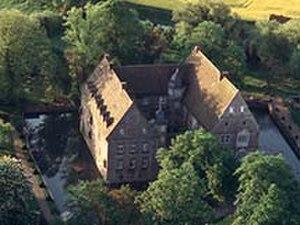 Hülsede Water Castle - Aerial photograph of Hülsede Castle