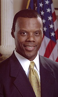 Photo from bio of then-Congressman J. C. Watts, who was a delegate to the 2003 Organization for Security and Cooperation in Europe (OSCE) Conference on Racism, Xenophobia and Discrimination.