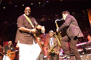 Wayman Tisdale and Dave Koz at the Dave Koz & ...