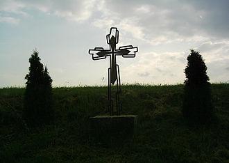 Rot an der Rot - Image: Wayside cross in Rot an der Rot
