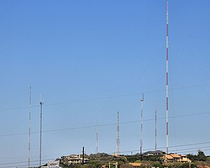 West Austin Antenna Farm - The antenna farm as seen from LCRA's Redbud Center.