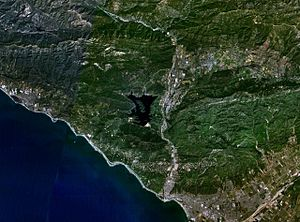 Lake Casitas - Image: Wfm lake casitas landsat