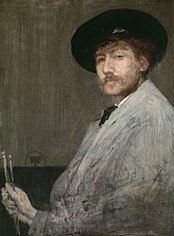 Arrangement in gray: portrait of the painter