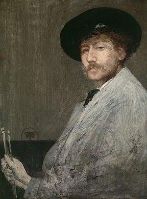James Abbott McNeill Whistler - Arrangement in Gray: Portrait of the Painter (self portrait, c. 1872), Detroit Institute of Arts