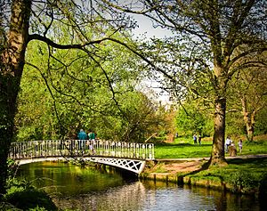 Morden - Morden Hall Park, 5 minutes walk from the town centre.