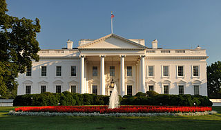 Central building of the White House complex