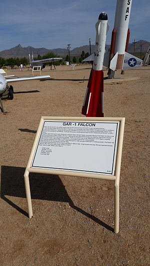 AIM-4 Falcon - White Sands Missile Range Museum GAR-1 Falcon display