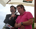 Wiener Tafel 20100618 197 PR-Manager Markus Hübl (left) presenting long-term volonteering associate Richard Riedl, acquisitor and driver..jpg