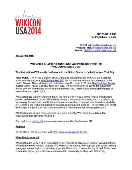 File:WikiCon USA 2014 Press Release v1.pdf