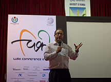 Wiki Conference India 2011-Jimmy Wales 2.jpg