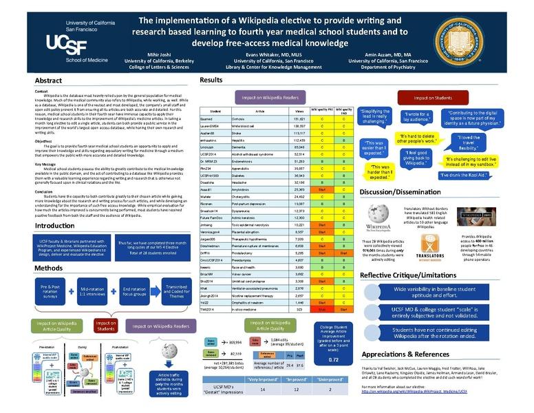File:Wiki medicine presentation - UCSF medical education - spring ...