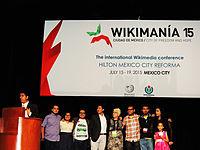 Wikimanía 2015 - Day 3 - Opening Ceremony - LMM - México (2).jpg