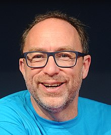 Wikimania 2016 - Press conference with Jimmy Wales and Katherine Maher 01 (centred crop).jpg