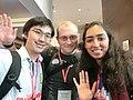 Wikimania 2017 by Deryck day 1 - 11 Niharika and Max.jpg