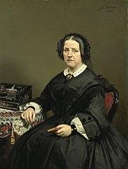 Wilhelmina Margaretha van den Bosch (1807-74). Echtgenote van Gerard Johan Verloren van Themaat
