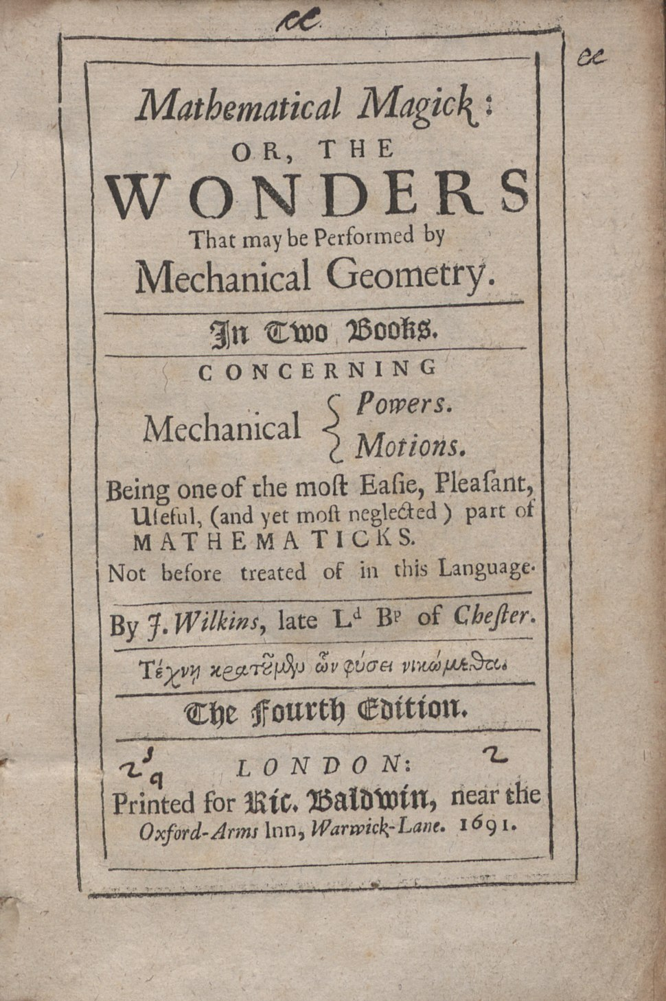 Wilkins - Mathematical magick, 1691.tiff