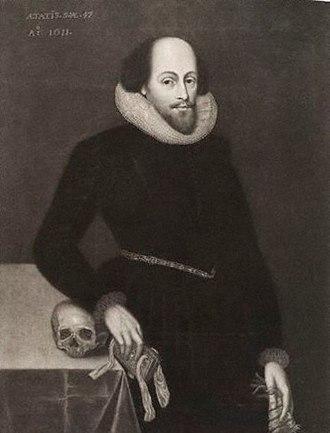 Ashbourne portrait - The portrait as it appeared in G.F. Storm's mezzotint.