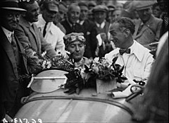 Grover-Williams po zwycięstwie w Grand Prix Belgii 1931