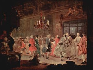 The Analysis of Beauty - The Dance / The Happy Marriage VI: The Country Dance (c.1745). This scene was used to illustrate The Analysis of Beauty.