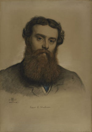 Robert Braithwaite Martineau - Drawing of Robert Braithwaite Martineau by William Holman Hunt(1860)