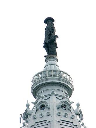 William Penn (Calder) - Image: Williampennleftside
