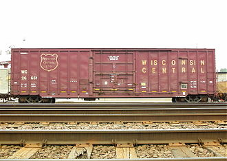 Wisconsin Central Ltd. - WC boxcar, seen in 2007